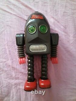 1950s Vintage Asakusa Thunder Robot TIN TOYS Space Battery Operated JAPAN