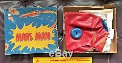 1950s Vintage Mars Man Rubber Helmet & Space Toy Costume Glenn Australia Exc