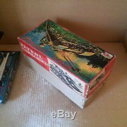 1950s Vintage PATROL COMMANDER PD-107 HORIKAWA Rosko TIN TOYS JAPAN Space + BOX