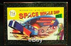 1950s Vintage Yoshiya KO Space Whale Ship Wind-up Tin Toy Made In Japan