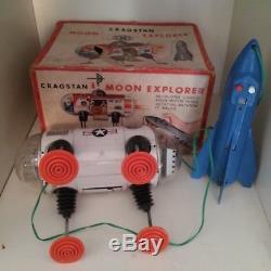 1960's VINTAGE MOON EXPLORER M-27 Tin Toy JAPAN by YONEZAWA space robot