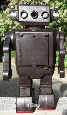 1960s Vintage HORIKAWA SH Toy Robot SUPER SPACE COMMANDER with TV Japan WORKS 50%