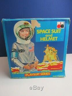 1960s vintage SPACE SUIT HELMET DEKKER TOYS nasa kids costume ASTRONAUT