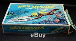 1969 vintage Mattel SEA DEVILS Commander Carter figure set with original box RARE