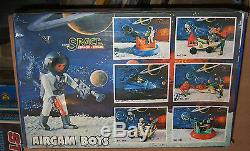 80's Vintage Toy Greek Pyroplast Airgam Boys Astronauts Space Ship Series Mib