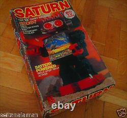AMAZING VINTAGE SATURN GIANT SCREEN ROBOT BATTERY OPERATED MIB FROM 70s