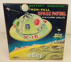 Amico #3101 Rare Vintage Non-fall Space Patrol With Floating Satellite-nmib