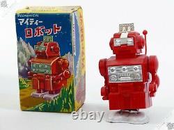 Aoki Noguchi Horikawa Cragstan Shaking Robot Tin Wind-up Vintage Japan Space Toy