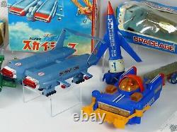 Bandai Jr21 Dinky Thunderbirds Motorised Vehicle Lot Vintage Space Toy Japan