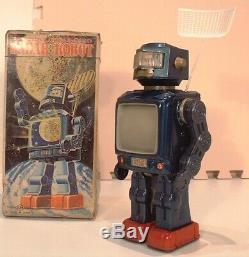 Battery Operated Rader Robot Toy Horikawa Japan Tin Space Vintage Rare 1960 Box
