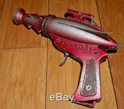 DAN DARE DCMT LONE STAR SPACE GUN RARE VINTAGE 1950's RARE DIECAST TOY A831