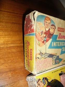Gerry Anderson Supercar Intercom Set Merit Vintage 60s Space TV Toy Thunderbirds