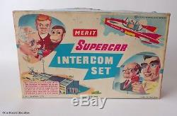 Gerry Anderson's Supercar Intercom Set by Merit Vintage 1960's Space TV Toy