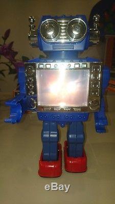 Hc Horikawa Sh Yonezawa Cragstan T. V. Robot Japan Vintage Space Toy Boxed