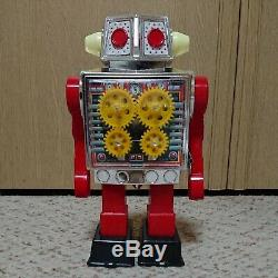 Horikawa New Gear Robot 1970s Vintage Space Toy Retro Mainspring From JAPAN