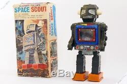 Horikawa Sh Masudaya Cragstan Space Scout Robot Astronaut Tin Japan Vintage Toy