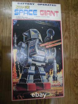 Horikawa Super Space Giant Robot Vintage Tin Toy with Box Made in Japan Showa