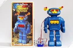 Horikawa Yonezawa Cragstan Commander Robot Plastic Tin Japan Vintage Space Toy