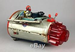 Horikawa -united States Nasa Space Capsule- Vintage Japanese Tinplate Rocket Toy