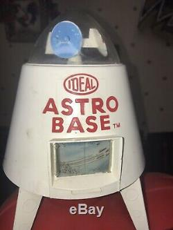 Ideal Astro Base with Scout Car Vintage 1960's Space-Age Toy Playset