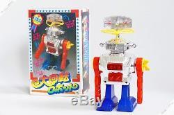 Ky Horikawa Revolution Robot Tin Plastic Japan Clockwork Vintage Space Toy