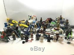LEGO Star Wars LOT Jedi fighter, Combat Speeder Five Add Ships And Minifigures