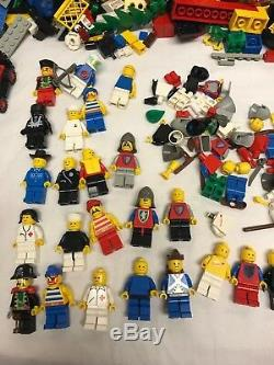 Lot of Vintage 80s Legos, Minifigures, Etc 7+ lbs. Many Different Themes