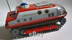 MODERN TOYS LUNAR EXPEDITION VINTAGE 1960's JAPANESE TIN PLATE SPACE TOY JAPAN