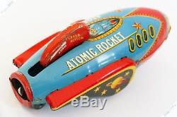 Masudaya Cragstan Horikawa Atomic Rocket Ufo Tin Japan Vintage Robot Space Toy