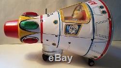 Masudaya Horikawa Apollo Capsule Rocket Tin Japan Vintage Space Ship Toy