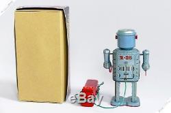 Masudaya Linemar Horikawa R-35 Remote Control Robot Tin Japan Vintage Space Toy