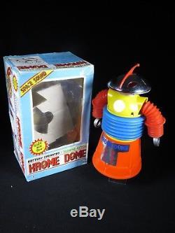 Mib Vintage Krome Dome Space Robot Hard Plastic Battery Op. Yonezawa Japan