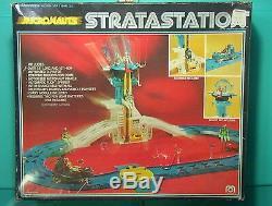 Micronauts VINTAGE 1976 Stratastation Playset Lot of 38+ Parts withBox Mego C-6