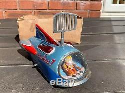 Modern Toys Japan Atom Rocket 7 Excellent Vintage 1960s Working Rare