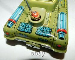 Near Mint Vintage Yonezawa Battery Operated Space Patrol Tank With Jet & Box