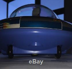 New in Box Vintage Space Ship X-5 Flying Saucer Tin Masudaya Japan 1960's