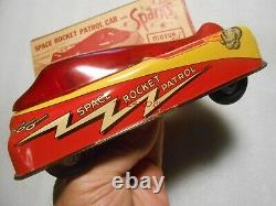 Nice Vintage 1950s Courtland Space Rocket Patrol Tin Friction Car in Box
