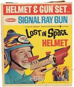 Original Vintage LOST in SPACE Helmet and Gun Set Original Box Remco 1966