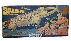 RARE VINTAGE MATTEL SPACE 1999 EAGLE 1 SPACESHIP TOY WithBOX SET ORIGINAL