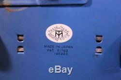 RARE Vintage 50/60s Masudaya Modern Toys Lithograph Tin Space Survey Ship Japan
