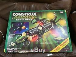 RARE Vintage Fisher Price Construx 2335 Laser Demon Aliens Space With Box