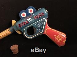 Rare Vintage 1940s Daisy Zooka Pop Cork Pistol Space Ray Gun Buck Roger with Cork