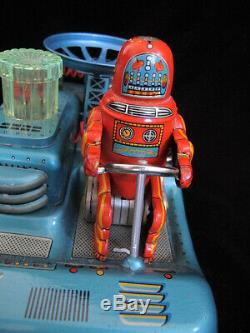 Rare Vintage 50's First Version Robby Robot Space Car made by Yonezawa