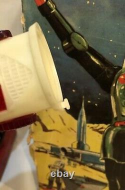 Rare Vintage Dux Astroman Robot Made In West Germany 1950s Space Toy with Box