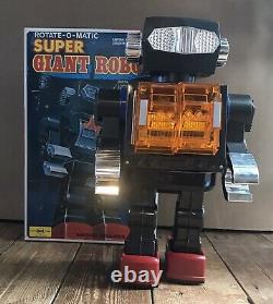 Rare Vintage Horikawa Giant Rotate-O-Matic Super Robot Space Tin Toy