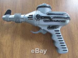 Rare Vintage Ideal 1950s Ratchet Sound Grey Plastic Ray Gun Working