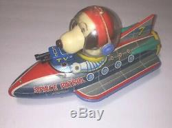 Robot Rare Snoopy Space patrol Tin toys 1960s RARE Vintage MASUDAYA