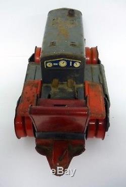 SPACE ROBOT BULLDOZER Vintage Yonezawa Japan Tin Toy