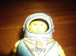 SPACE TROOPER Robot by HAJI 1955 Astronaut RARE vintage tin toy wind up Japan