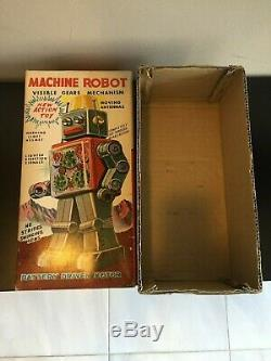 Sh Horikawa Machine Robot Space Tin Toy Japan Empty Box Only 60s Vintage Origina